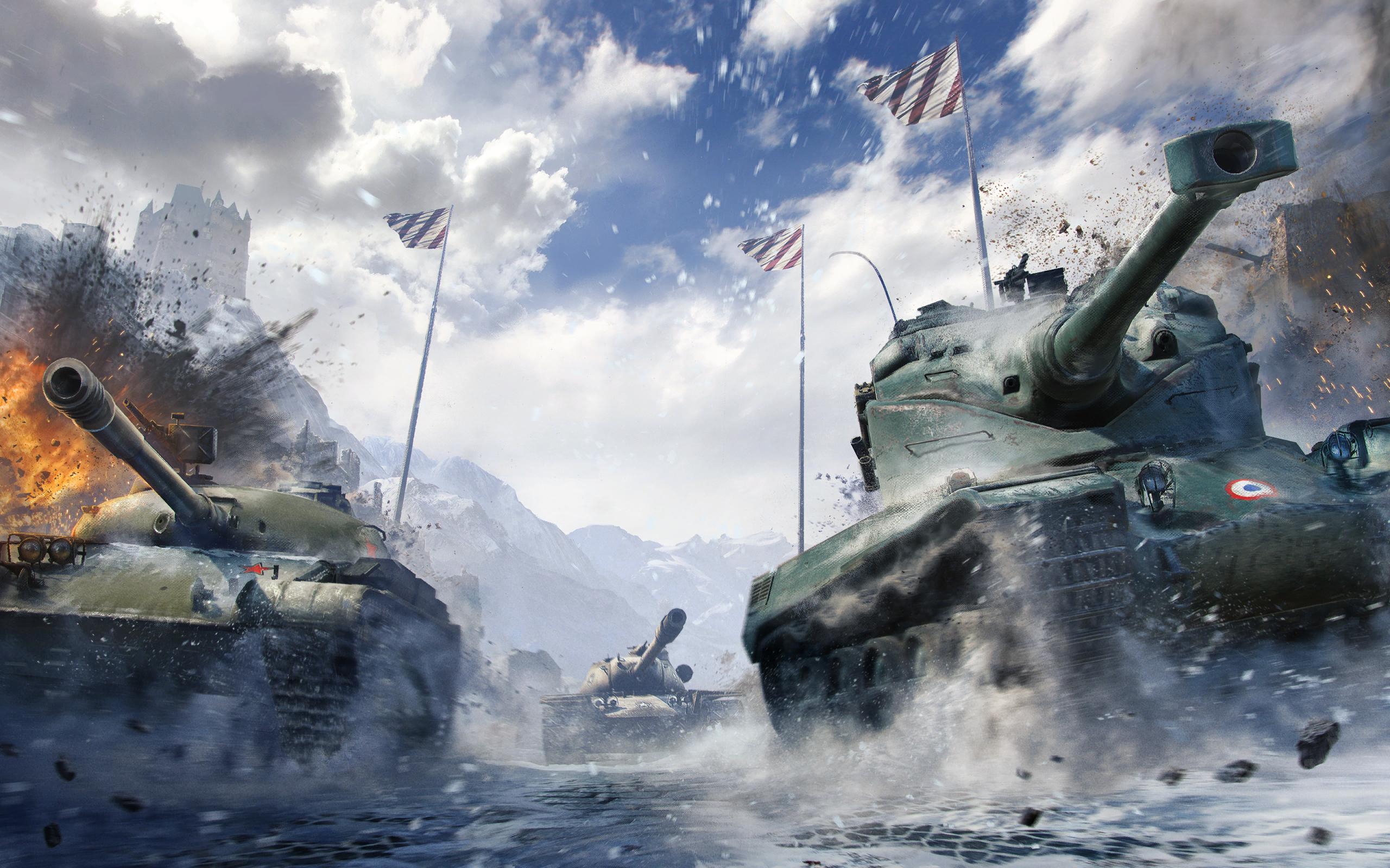 рисунок World of Tanks француз и русский