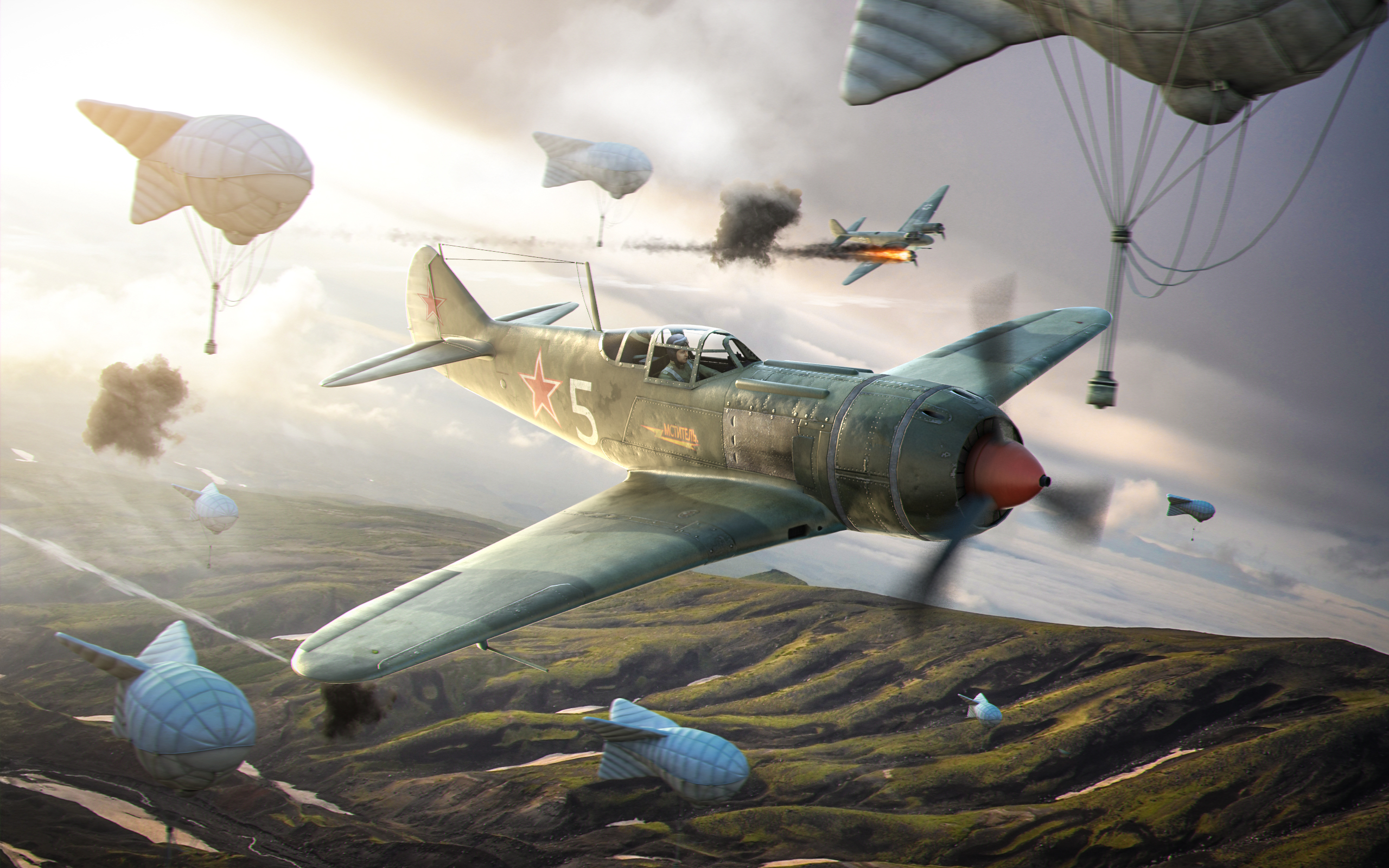рисунок World Of Warplanes Ла-5